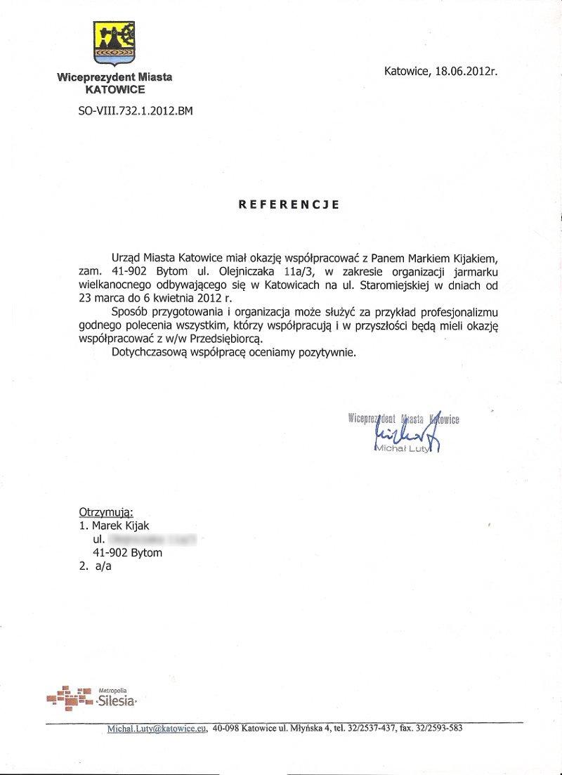 Referencja UM katowice 2012