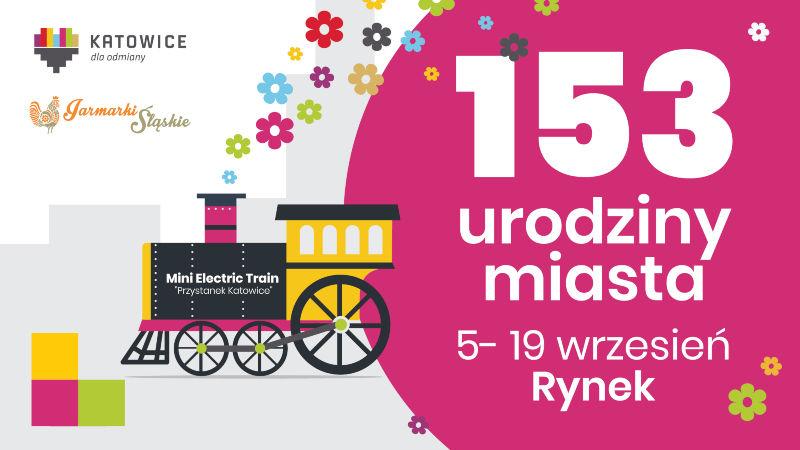 Plakat Jarmarku 153 Urodziny Katowic
