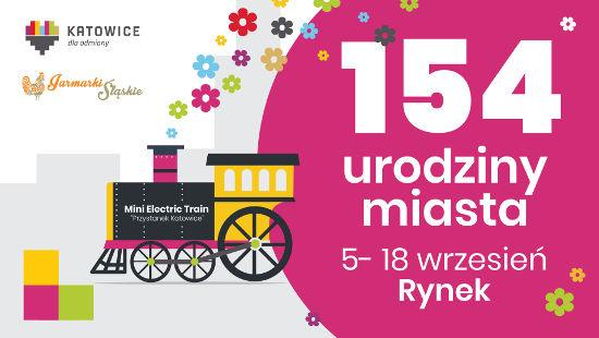 Plakat Jarmarku 154 Urodziny Katowic