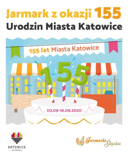 Plakat Jarmarku 155 Urodziny Katowic