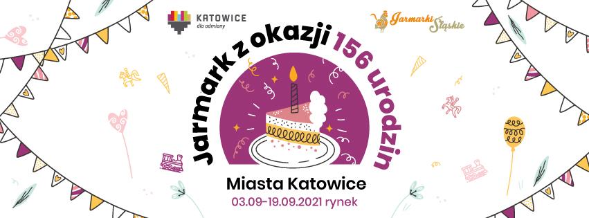 Plakat Jarmarku 156 Urodziny Katowic