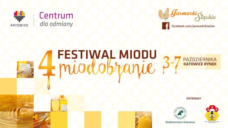 Plakat festiwalu - Miodbranie 2017 w Katowicach