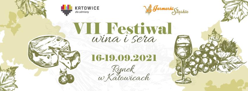 VII Plakat Festiwalu Wina i Sera - Katowice 2021