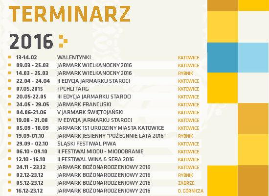 Terminy imprez jarmarkowych na 2016r.
